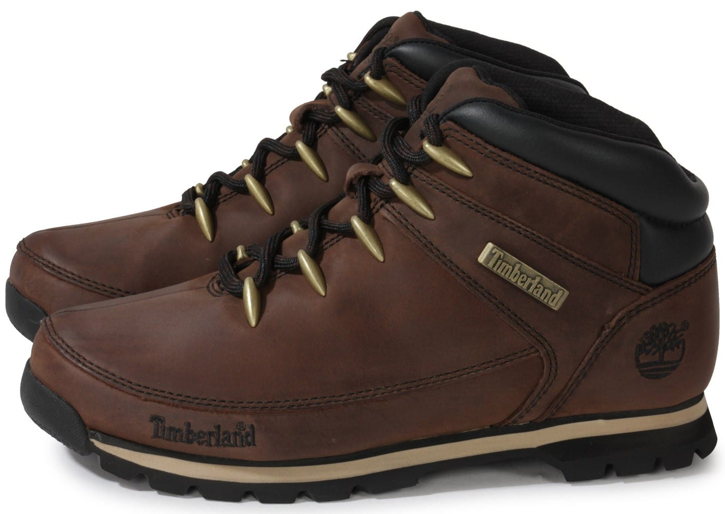 timberland euro sprint marron fonc chaussures homme chausport. Black Bedroom Furniture Sets. Home Design Ideas
