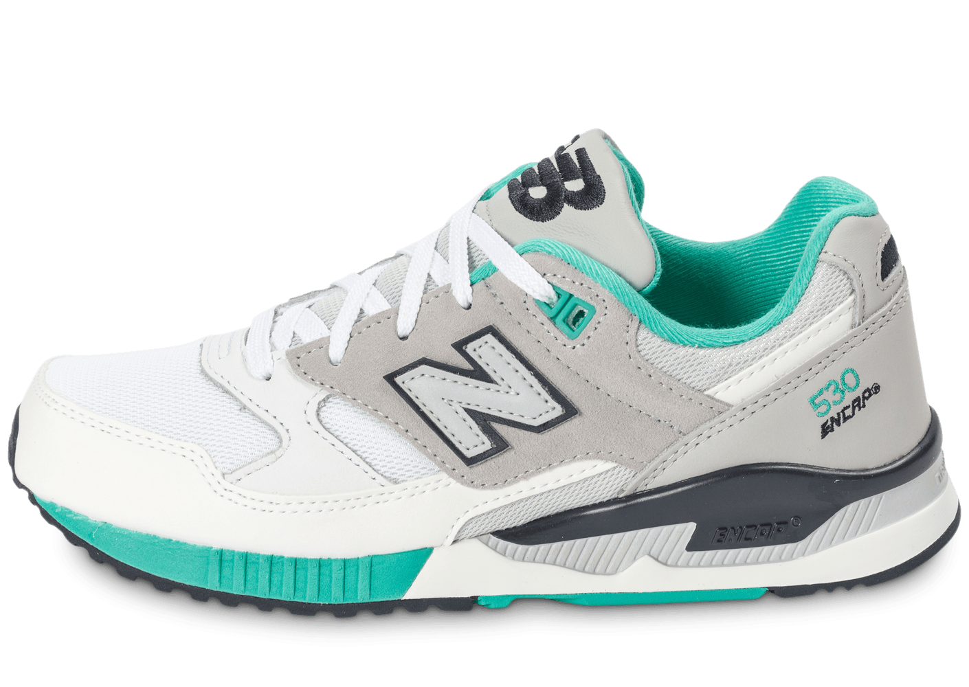 new balance blanche turquoise