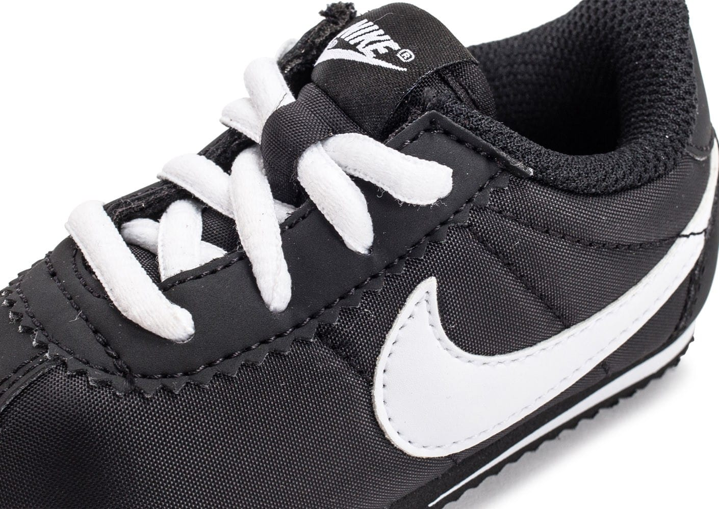 the latest a57c9 ed544 ... chaussures nike cortez cuir nylon bebe noire zoom detail