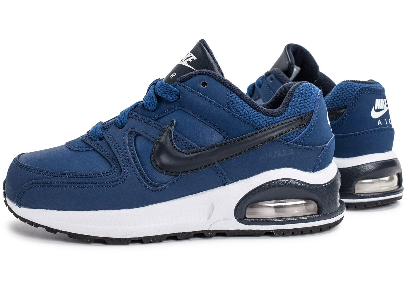 nike air max command flex enfant bleu marine chaussures enfant chausport. Black Bedroom Furniture Sets. Home Design Ideas