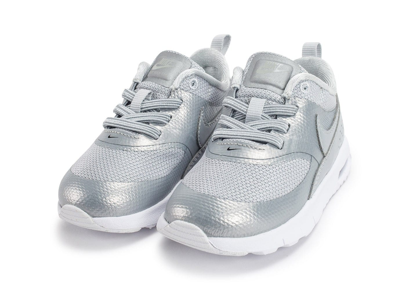 separation shoes 3a7bc a636e chaussures nike air max thea bebe argentee vue avant