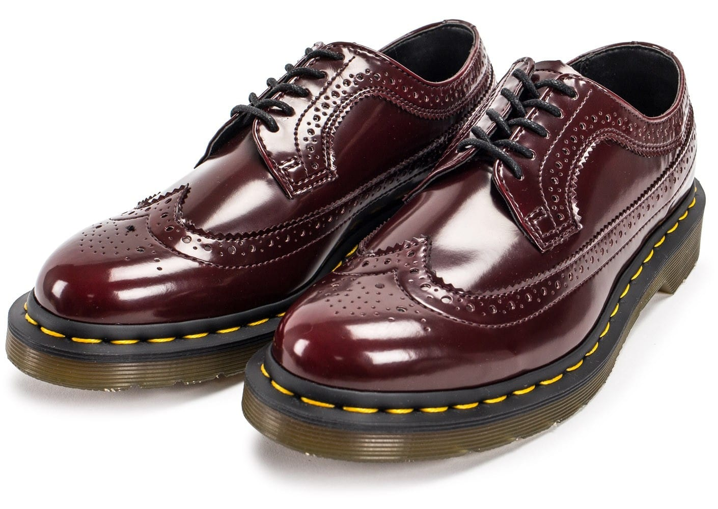 dr martens 3989 wingtip cherry red chaussures femme chausport. Black Bedroom Furniture Sets. Home Design Ideas