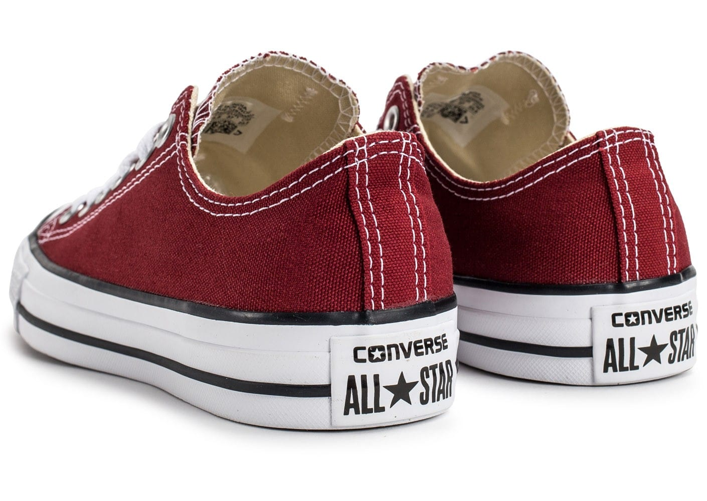 converse chuck taylor all star low bordeaux chaussures femme chausport. Black Bedroom Furniture Sets. Home Design Ideas