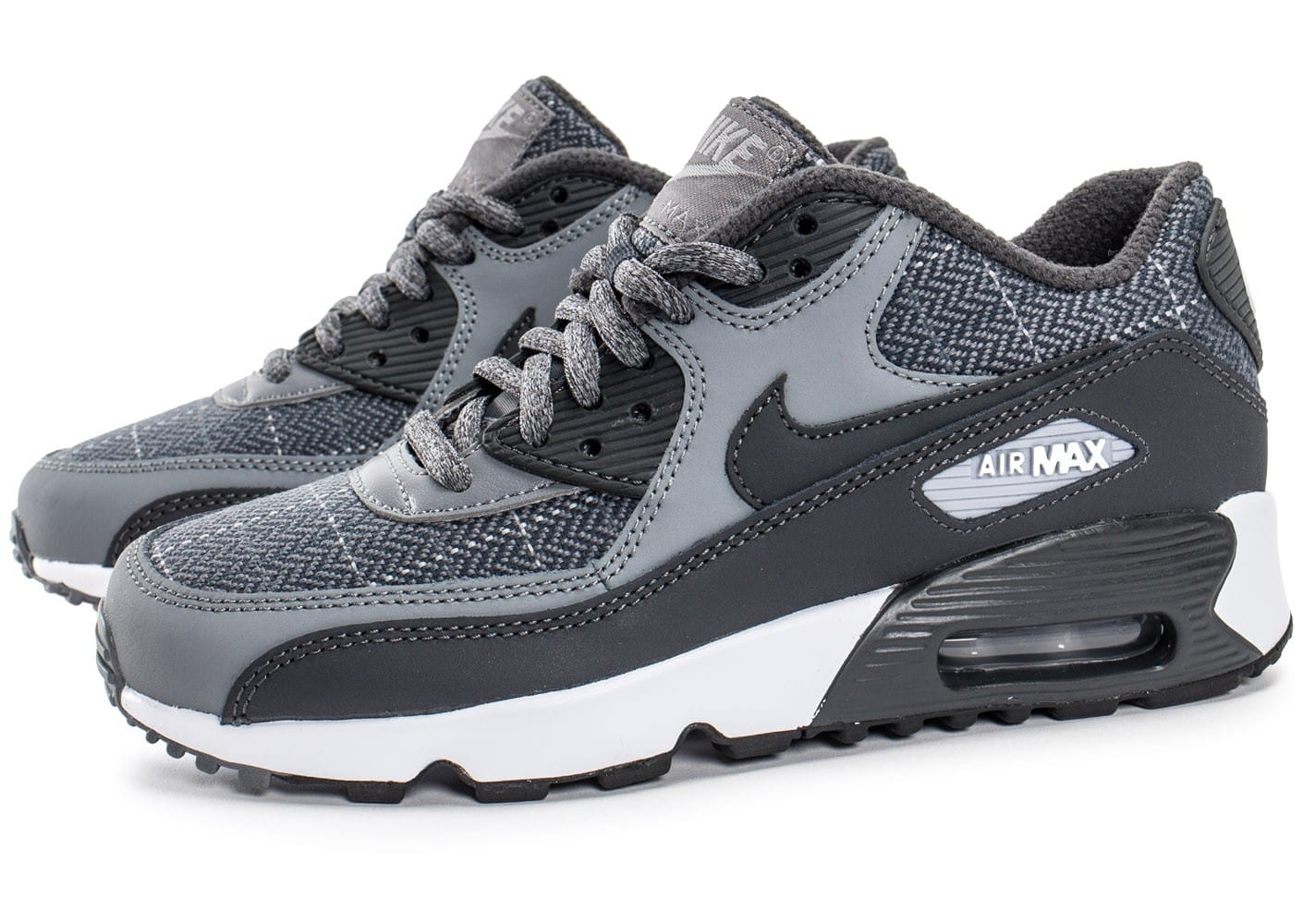 huge discount 9085b 40300 chaussures nike air max 90 se wool grise vue par paire