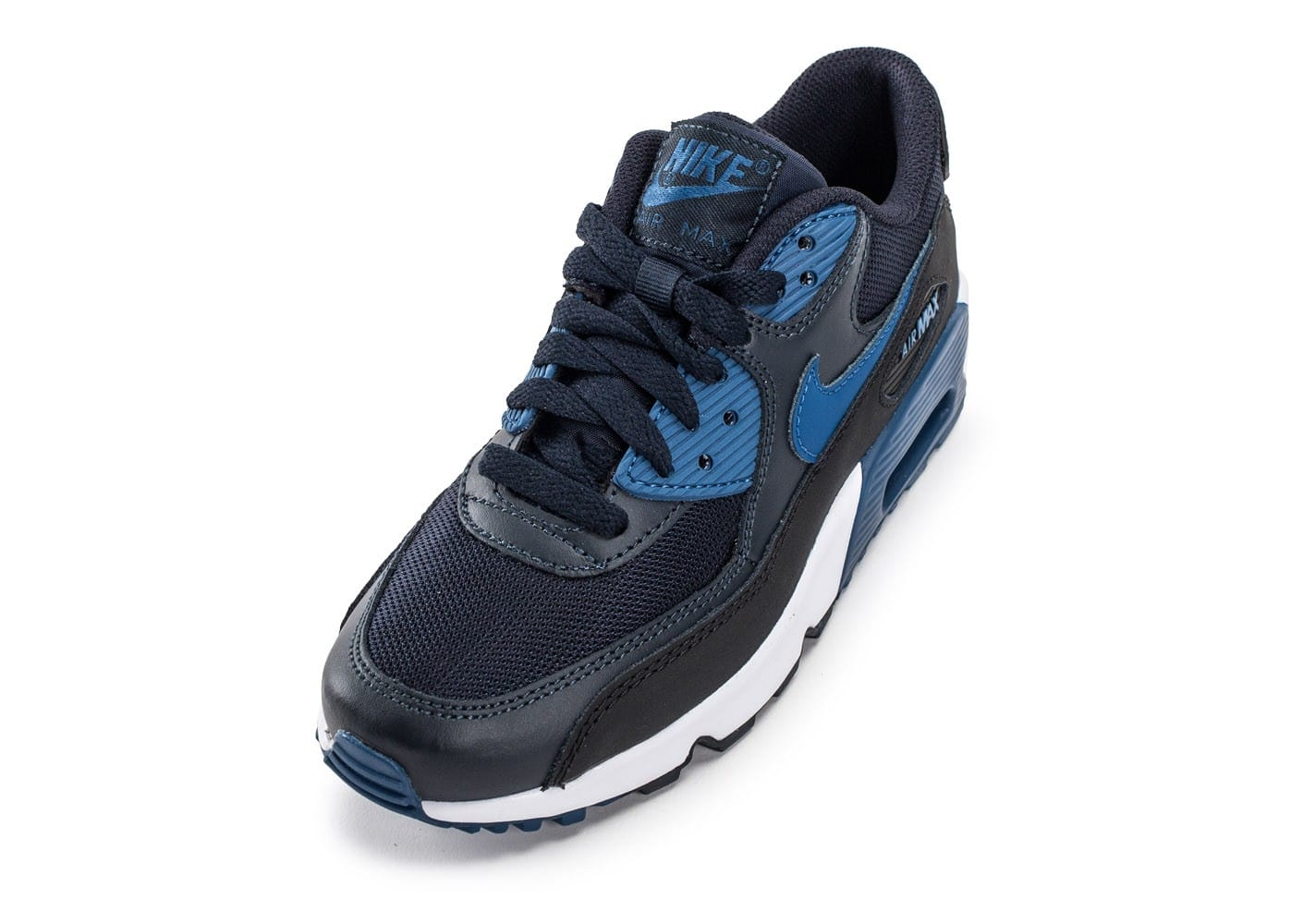 low priced 3267b 7f67c ... chaussures nike air max 90 mesh junior bleu marine vue avant