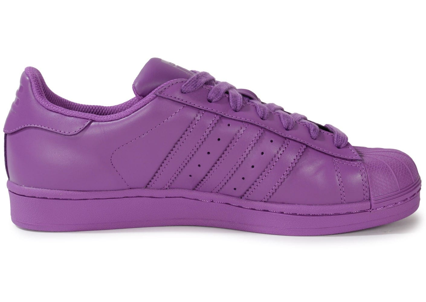 Chaussures adidas SUPERSTAR SUPERCOLOR RAY PURPLE vue dessous