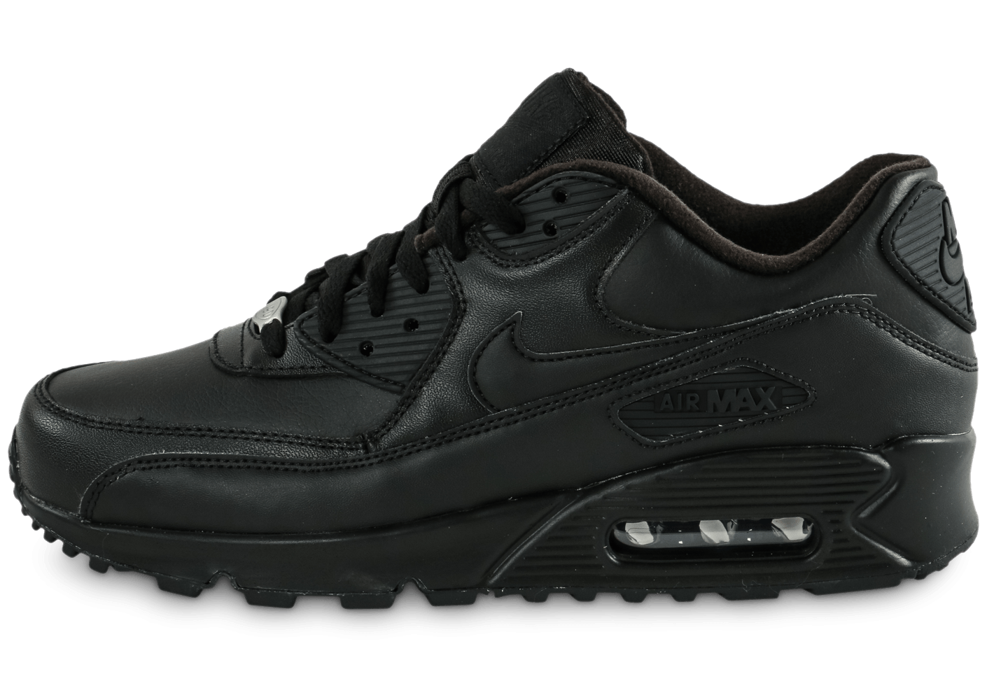 nike air max 90 leather noire chaussures homme chausport. Black Bedroom Furniture Sets. Home Design Ideas