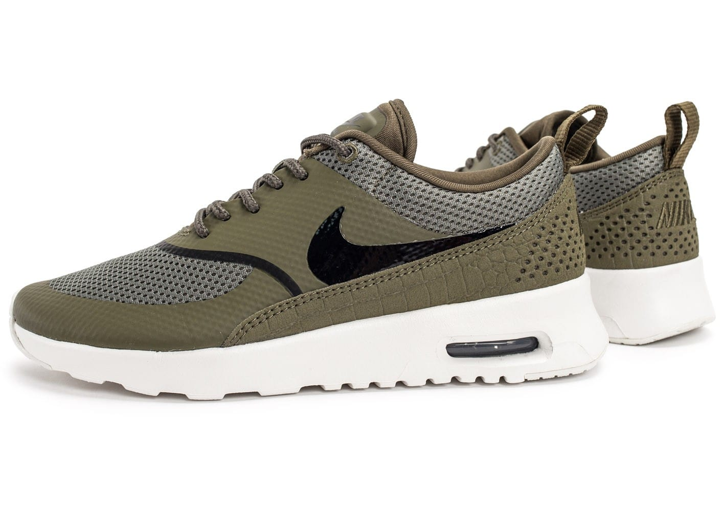 nike air max thea olive chaussures femme chausport. Black Bedroom Furniture Sets. Home Design Ideas