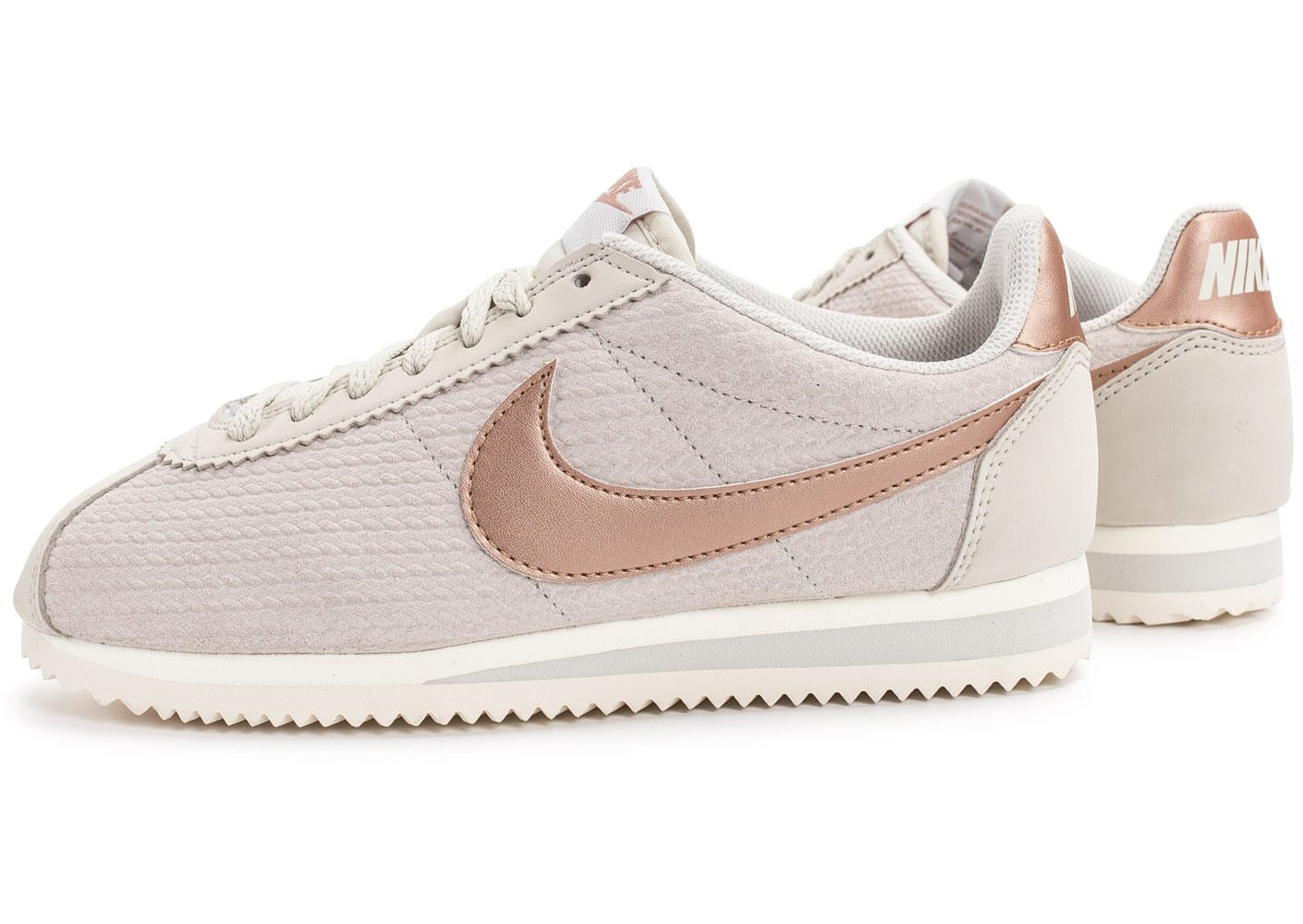 nike cortez leather lux beige chaussures femme chausport. Black Bedroom Furniture Sets. Home Design Ideas
