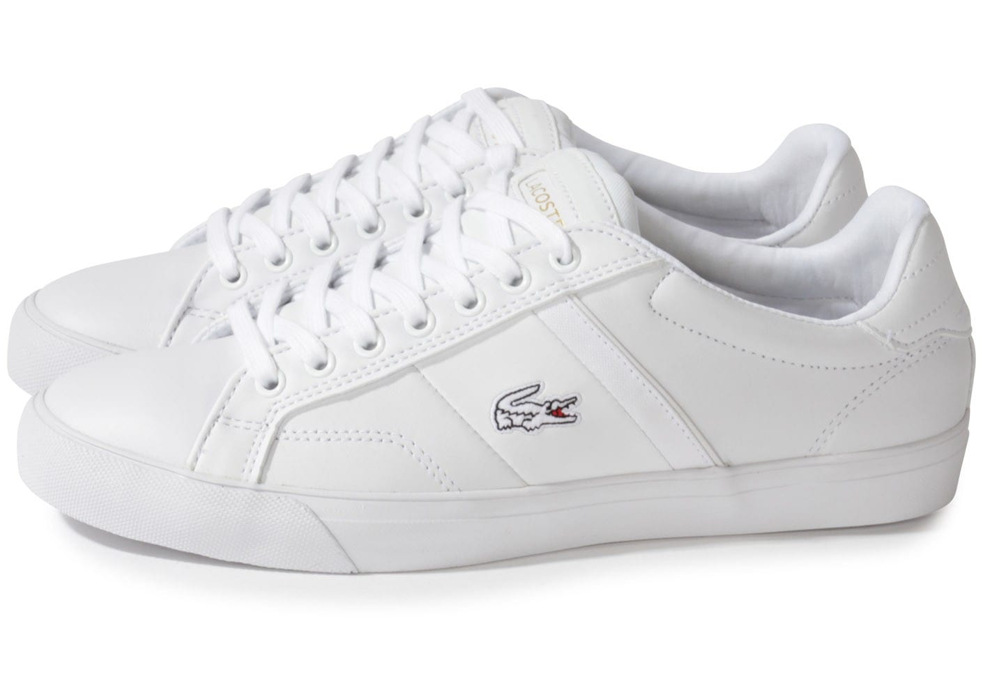 lacoste fairlead blanche chaussures homme chausport. Black Bedroom Furniture Sets. Home Design Ideas