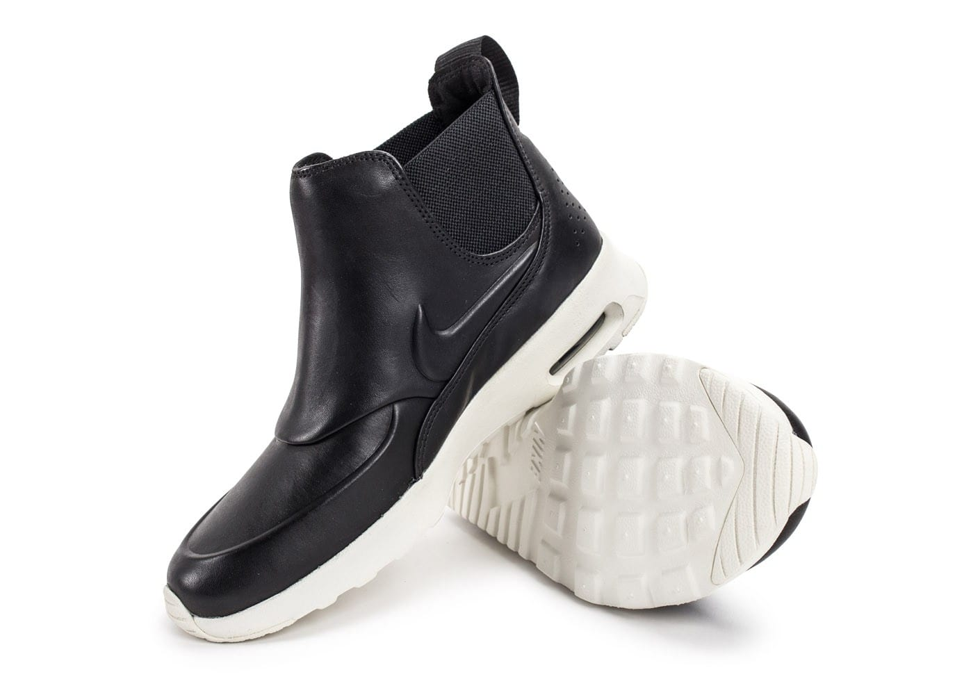 brand new 0eb35 18c68 Chaussures Nike Air Max Thea Mid noire vue avant . ...