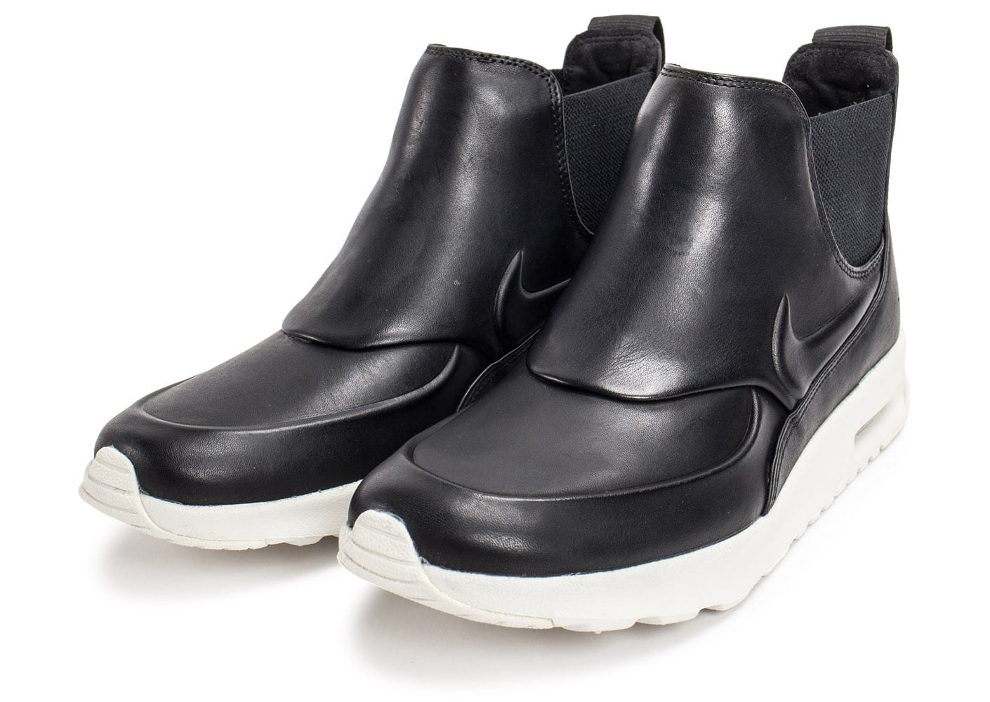 new product 06eb3 b7cc9 Chaussures Nike Air Max Thea Mid noire vue intérieure .