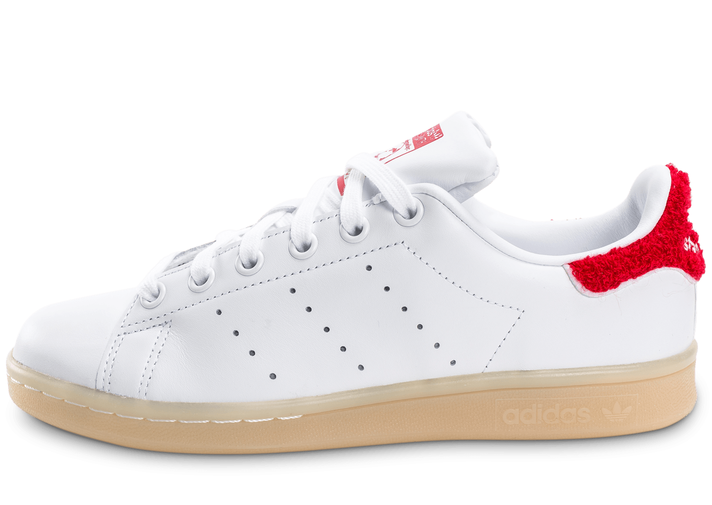 adidas stan smith wool blanche et rouge chaussures adidas chausport. Black Bedroom Furniture Sets. Home Design Ideas