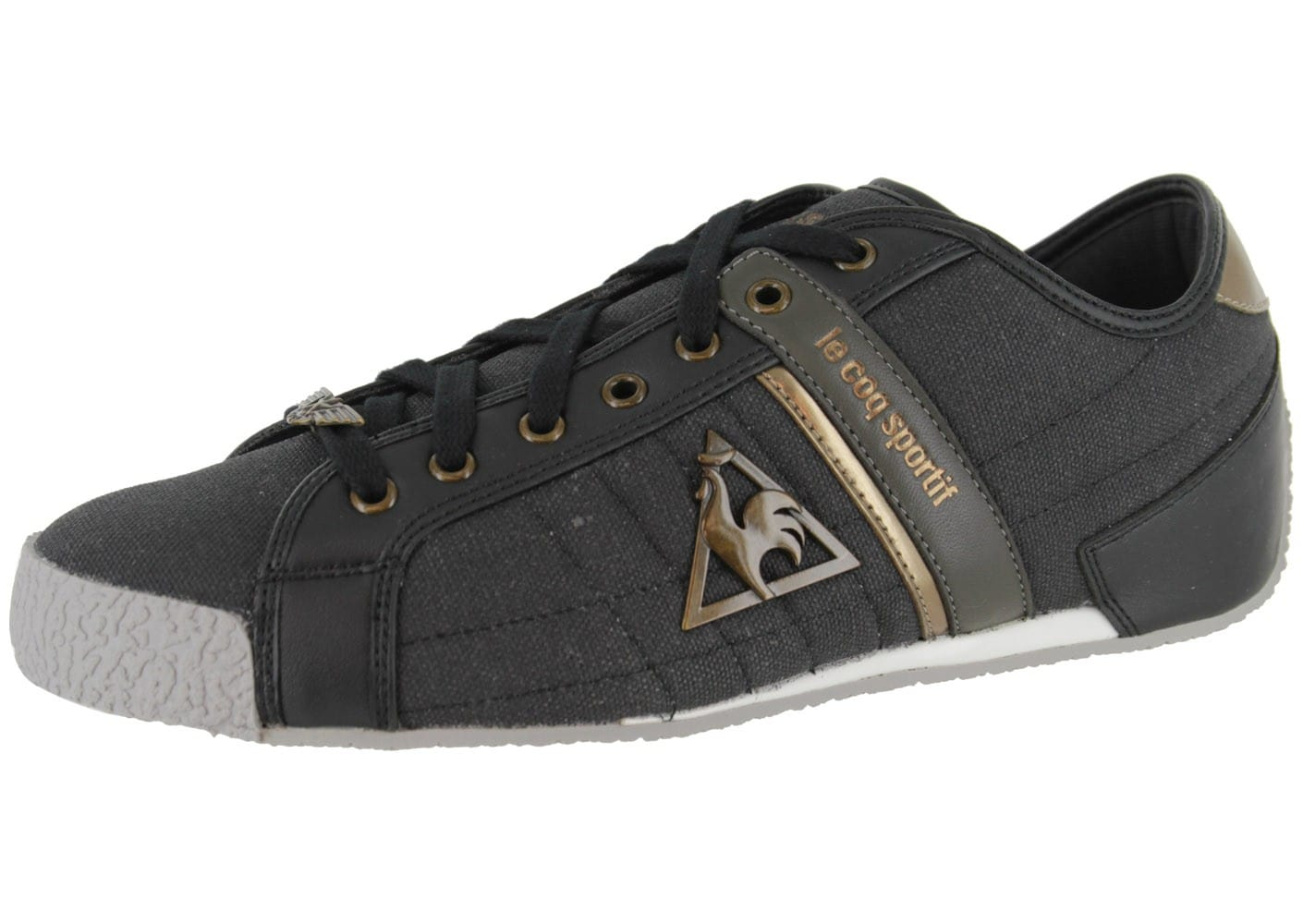 le coq sportif escrime toile noire chaussures homme chausport. Black Bedroom Furniture Sets. Home Design Ideas