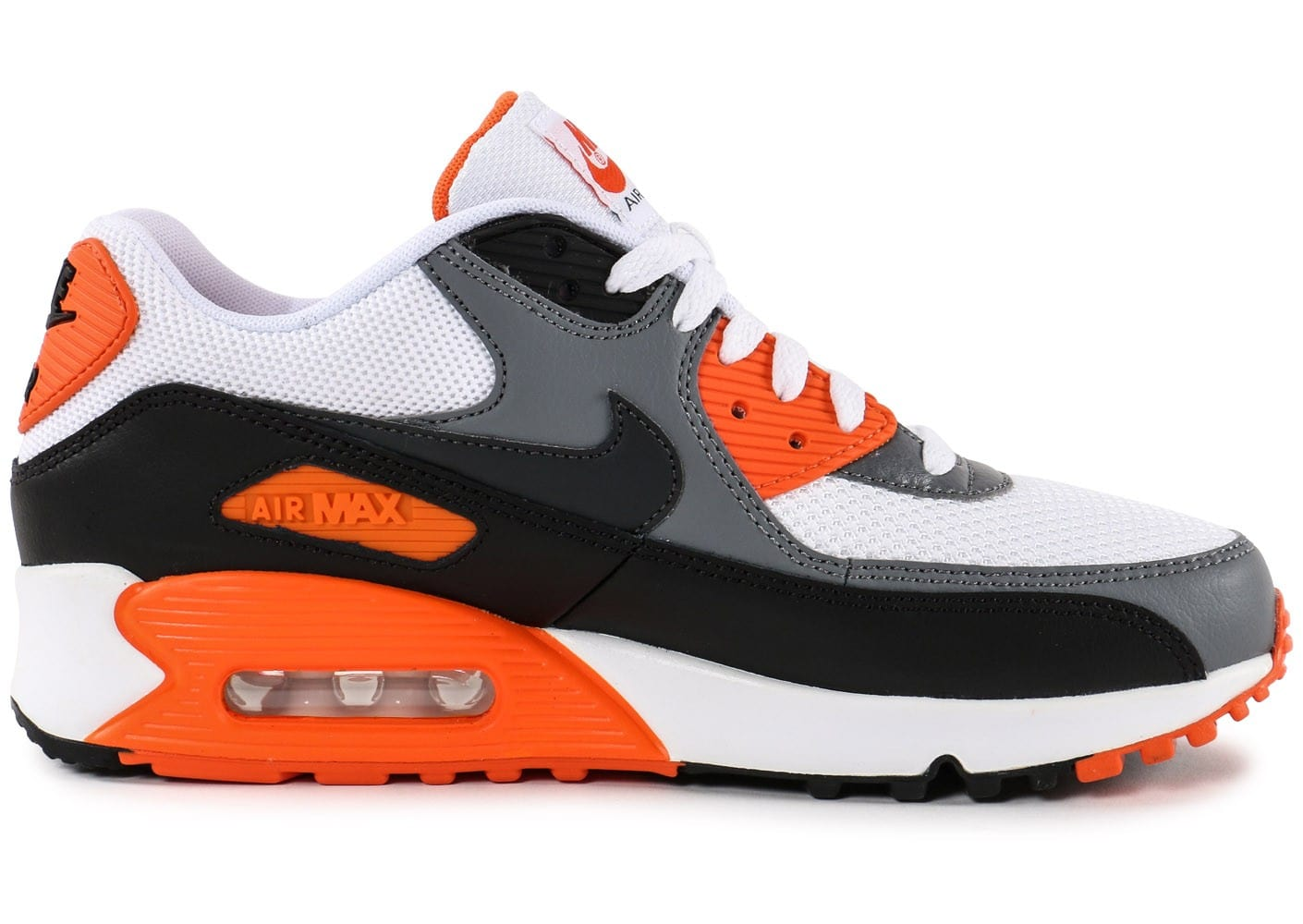 nike air max 90 essential blanc orange chaussures homme chausport. Black Bedroom Furniture Sets. Home Design Ideas
