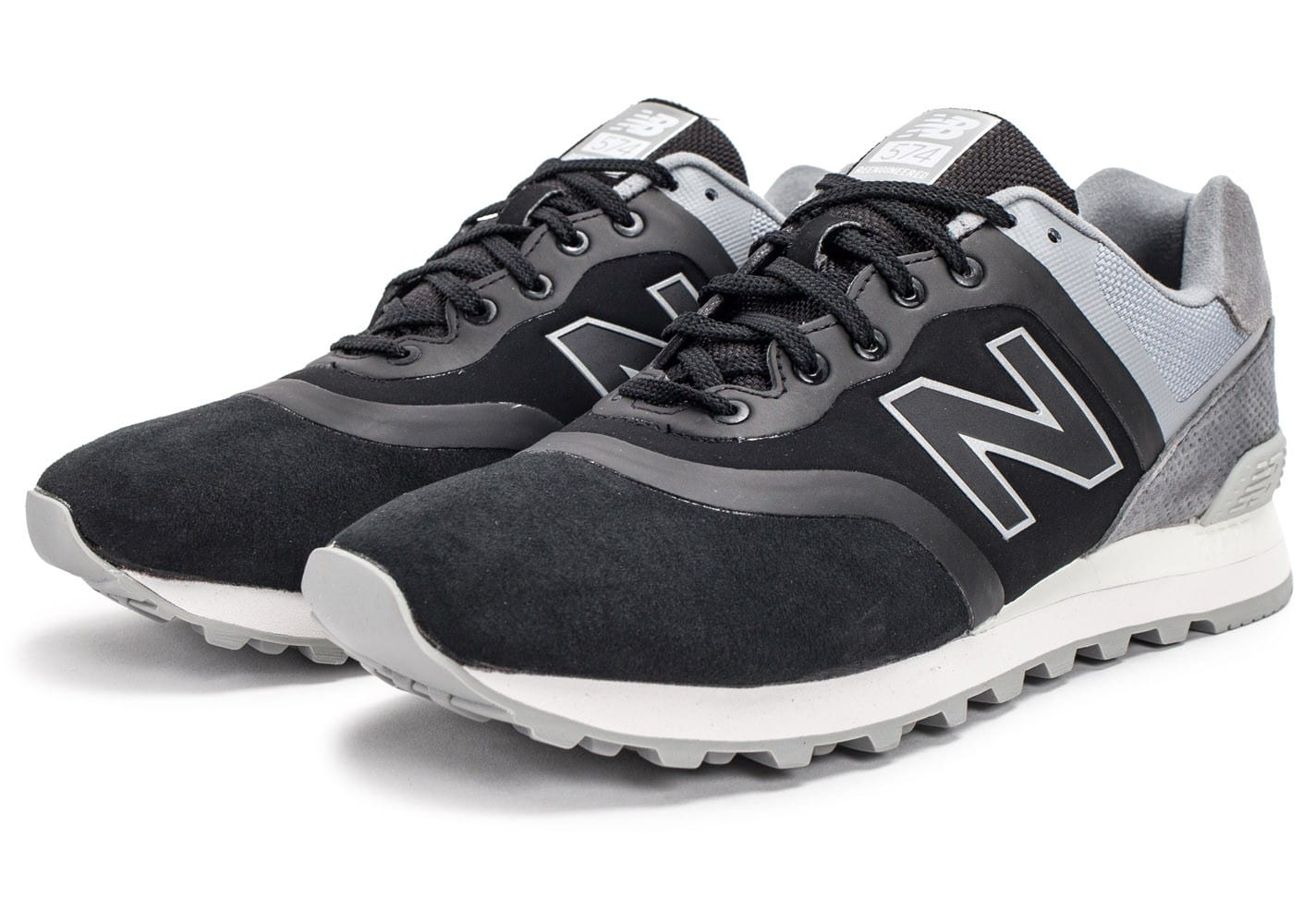 Chaussures New Balance 574 Re Engineered Suede noire vue intérieure