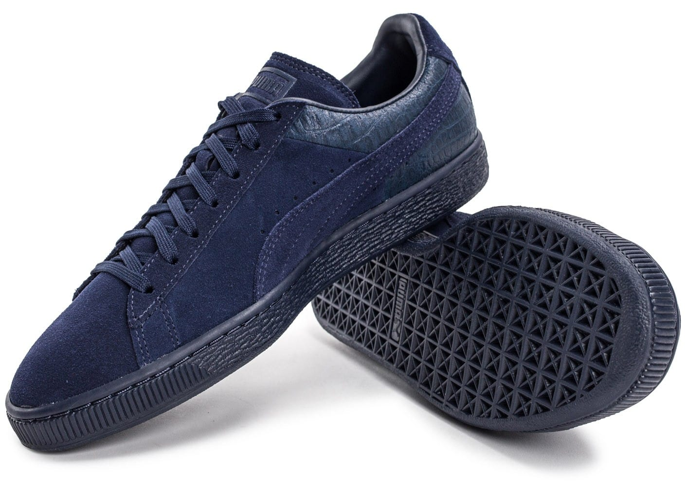soldes puma su de classic casual emboss bleu marine chaussures homme chausport. Black Bedroom Furniture Sets. Home Design Ideas