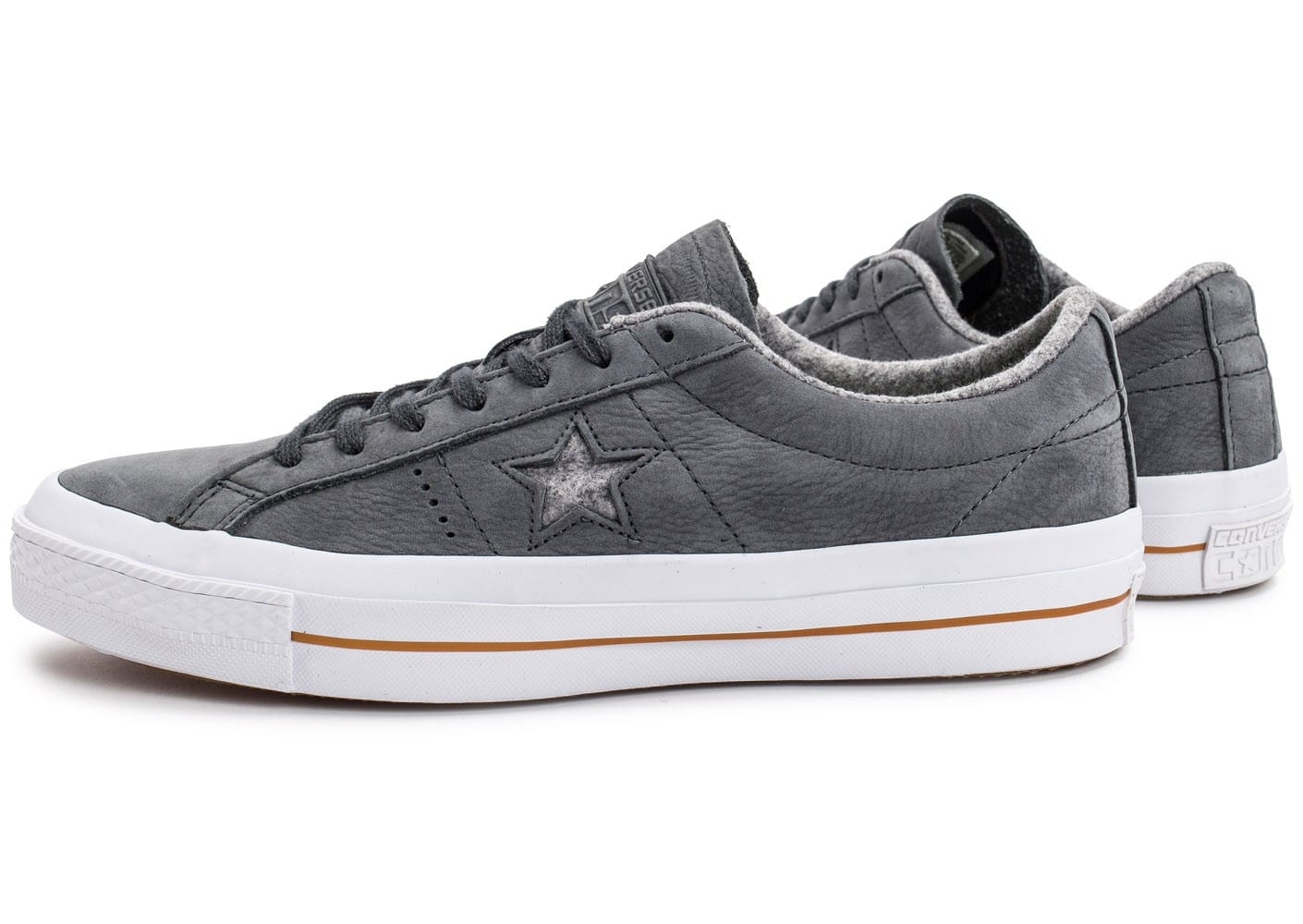 converse one star nubuck grise chaussures homme chausport. Black Bedroom Furniture Sets. Home Design Ideas