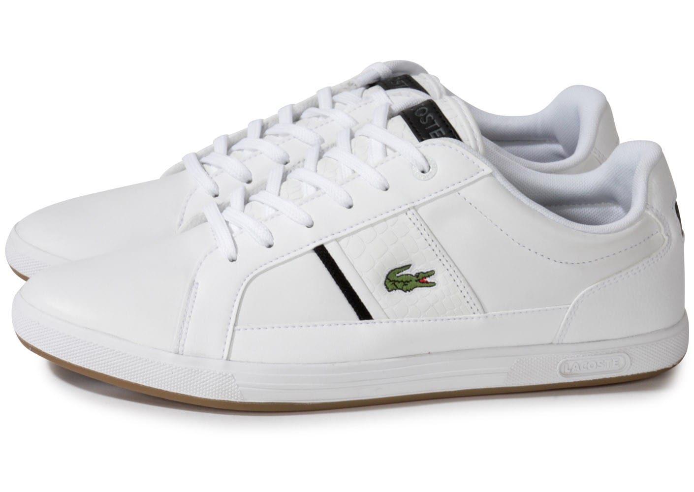 lacoste europa cuir blanche chaussures homme chausport. Black Bedroom Furniture Sets. Home Design Ideas