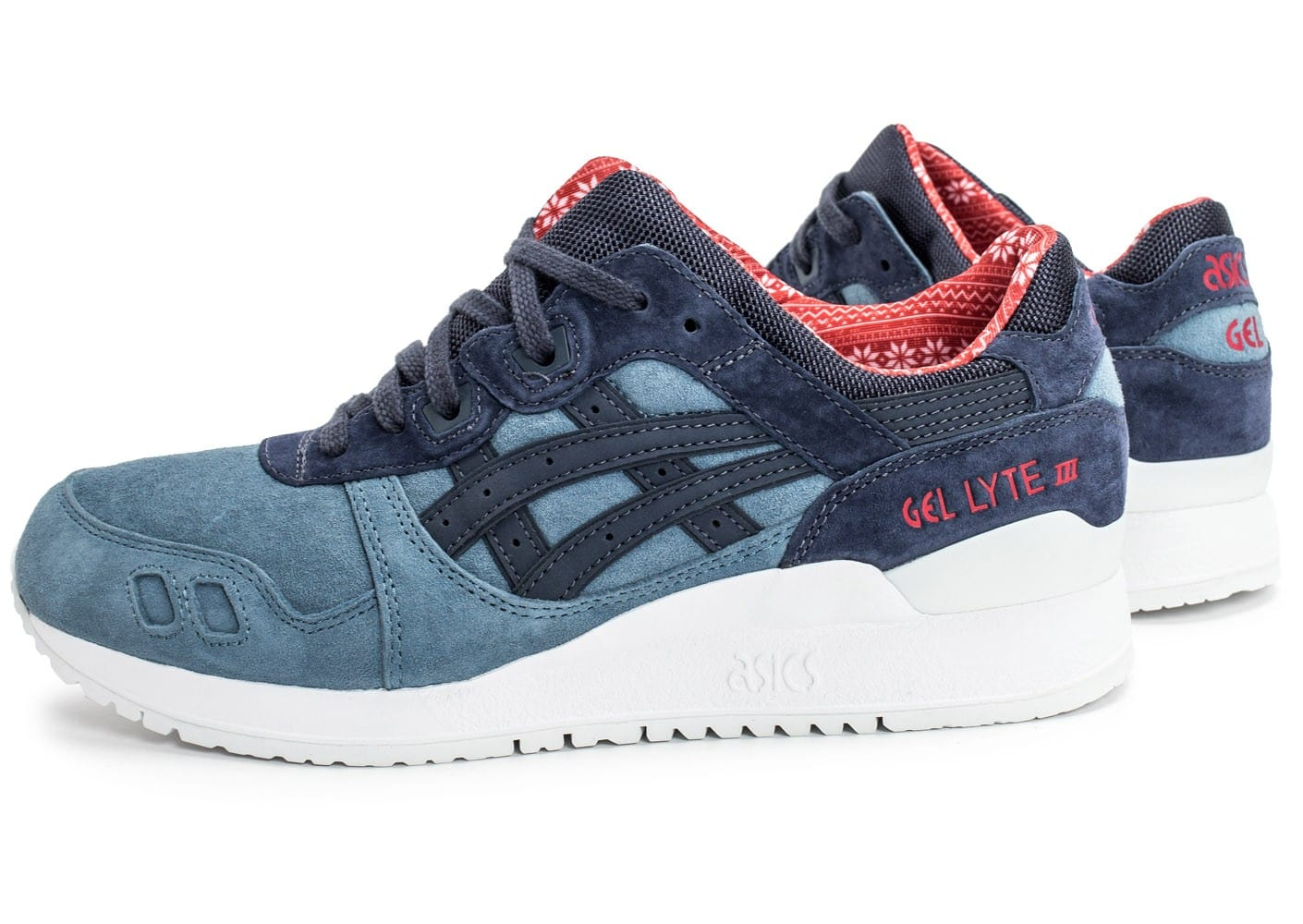 asics gel lyte iii christmas pack bleue chaussures homme chausport. Black Bedroom Furniture Sets. Home Design Ideas