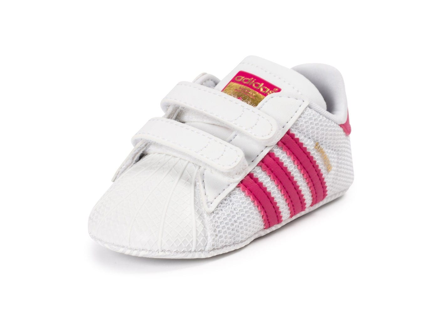 adidas superstar crib b b blanche et rose chaussures adidas chausport. Black Bedroom Furniture Sets. Home Design Ideas