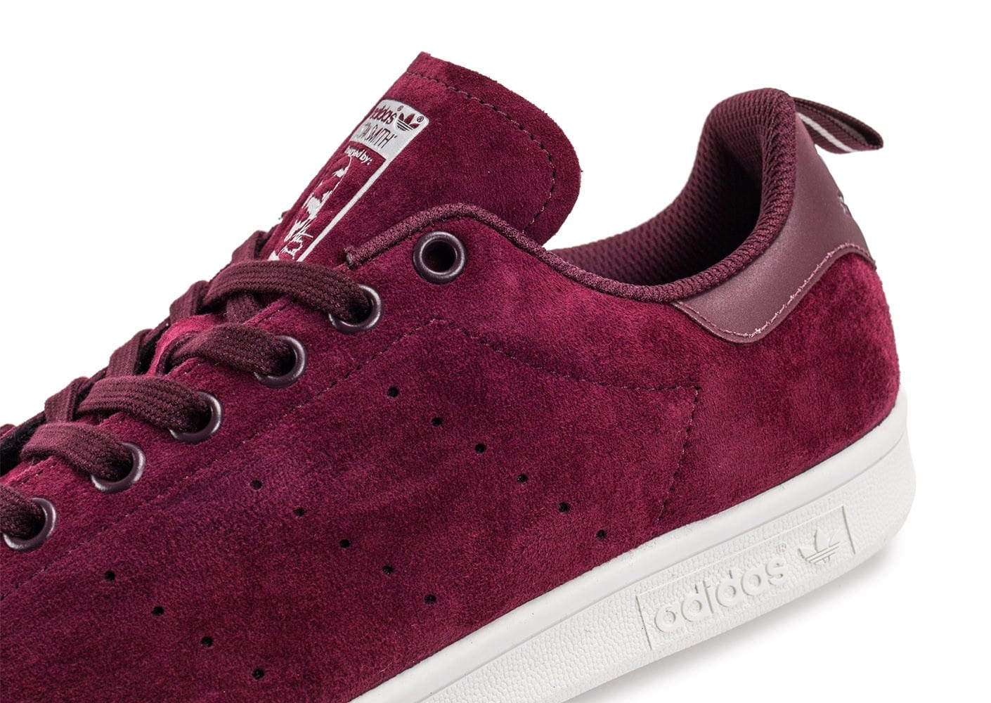 adidas stan smith suede bordeaux chaussures homme chausport. Black Bedroom Furniture Sets. Home Design Ideas
