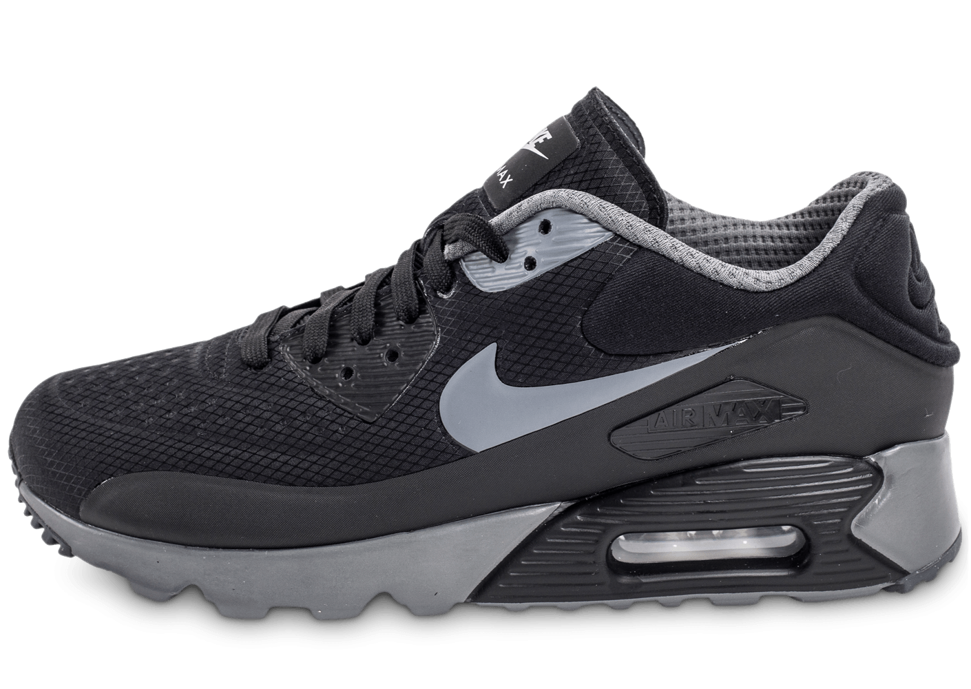 nike air max 90 ultra se noire et grise chaussures homme chausport. Black Bedroom Furniture Sets. Home Design Ideas