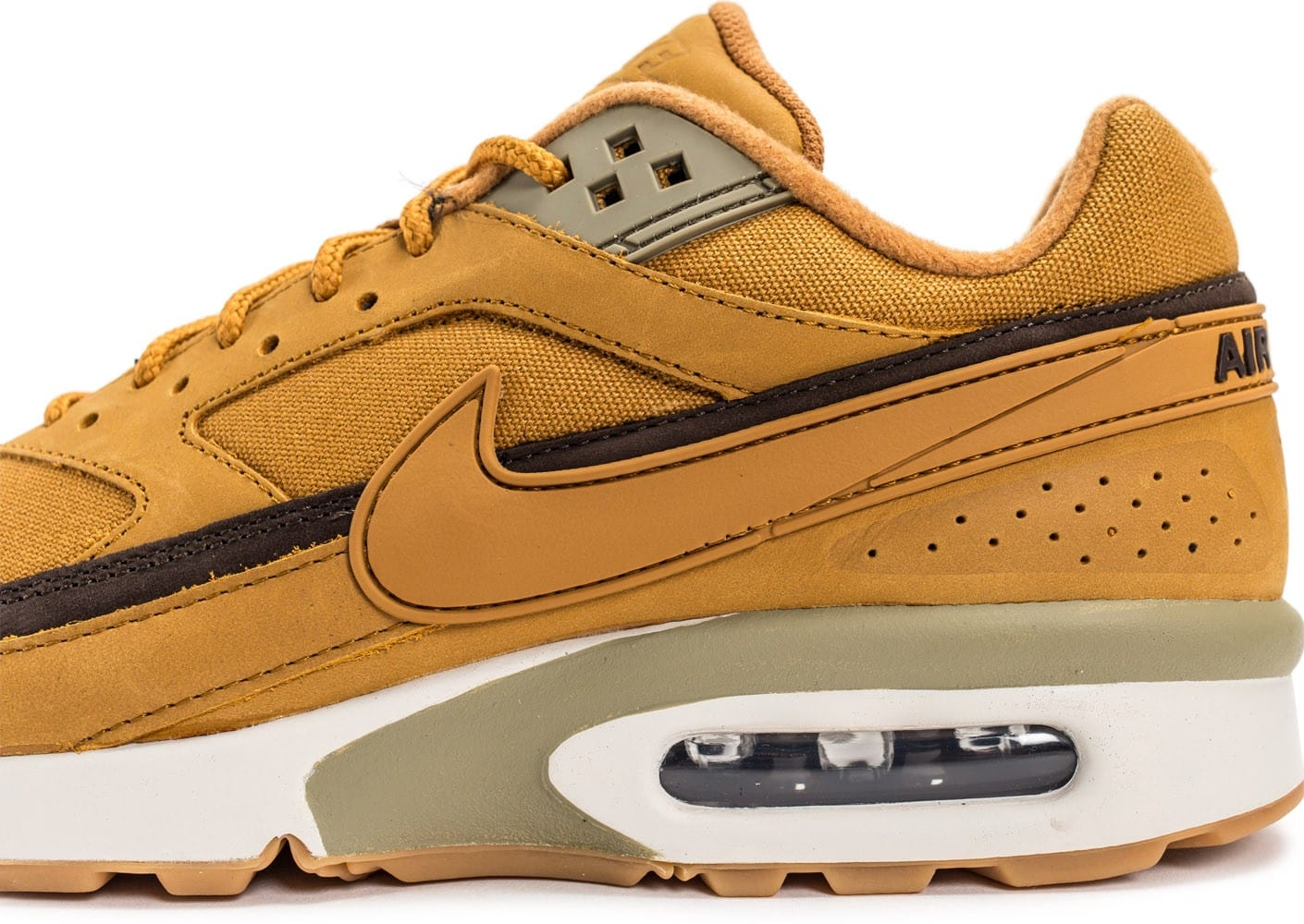 super popular 6ef6d 84424 ... discount code for chaussures nike air max bw wheat vue dessus 177a4  9fa4d