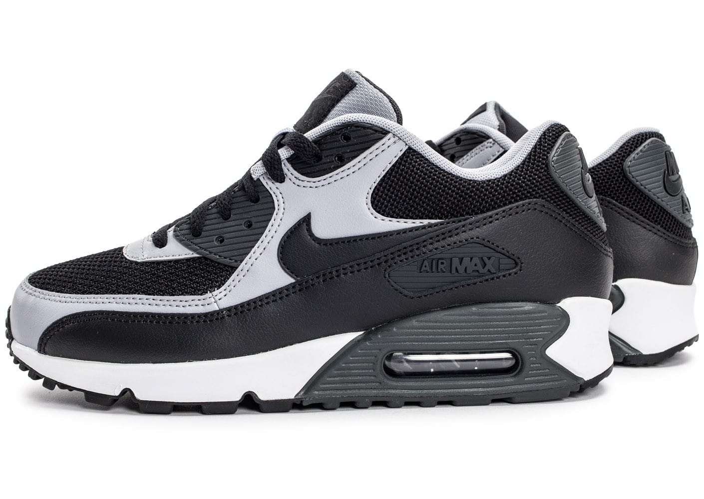 nike air max 90 essential noire et grise chaussures homme chausport. Black Bedroom Furniture Sets. Home Design Ideas