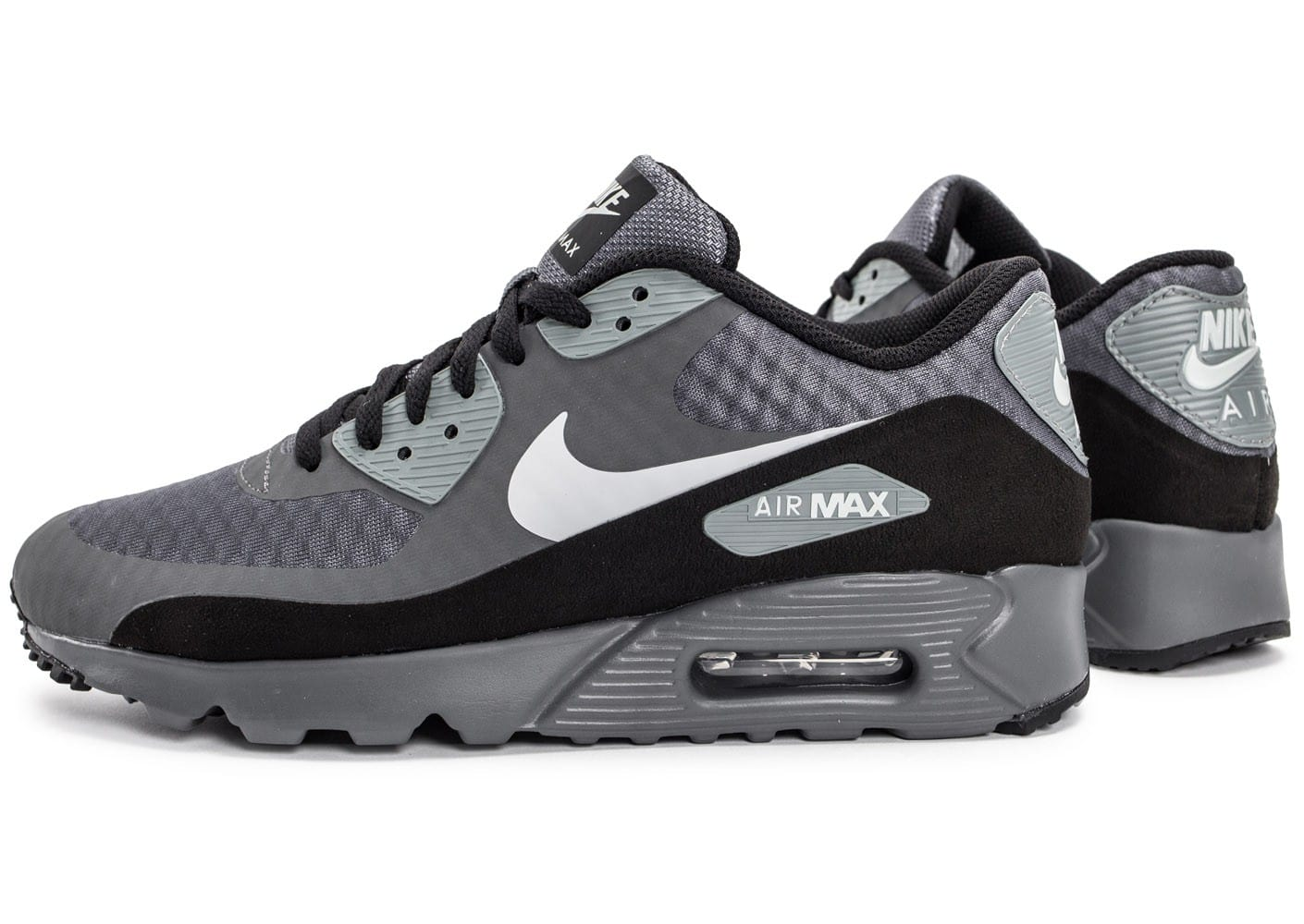 nike air max 90 ultra essential grise et noire chaussures homme chausport. Black Bedroom Furniture Sets. Home Design Ideas