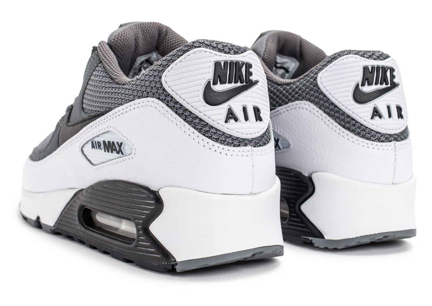 info for e141c 2172d ... chaussures nike air max 90 essential grise et blanche vue interieure
