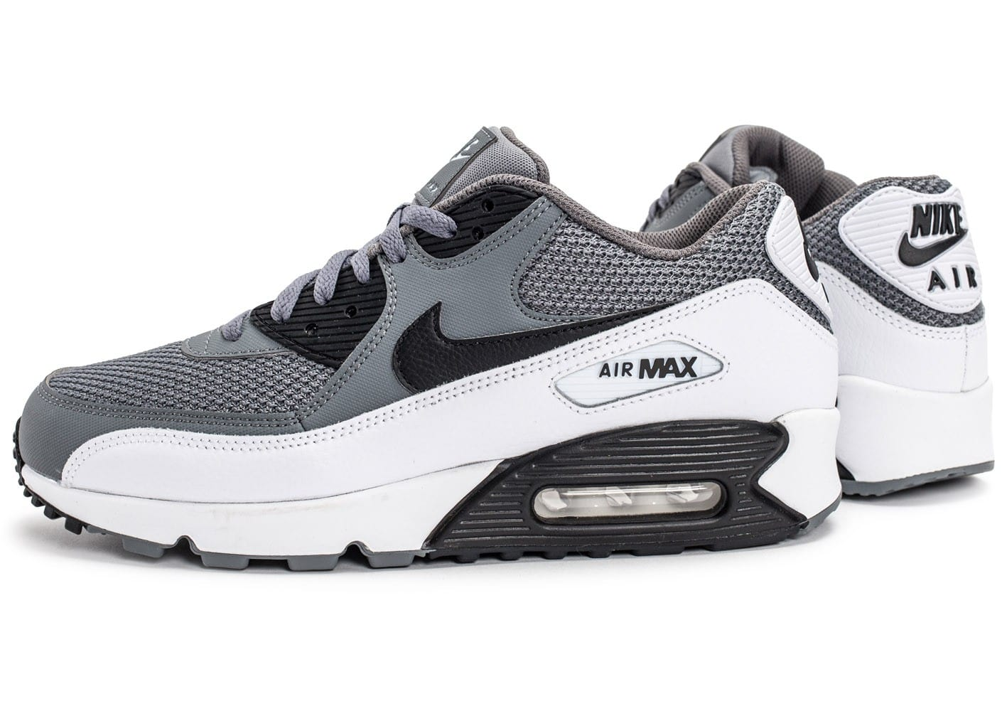 nike air max 90 essential grise et blanche chaussures homme chausport. Black Bedroom Furniture Sets. Home Design Ideas