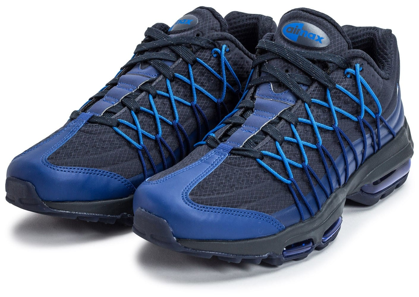 buy popular 3093c 6e12c ... chaussures nike air max 95 ultra se bleu marine vue avant