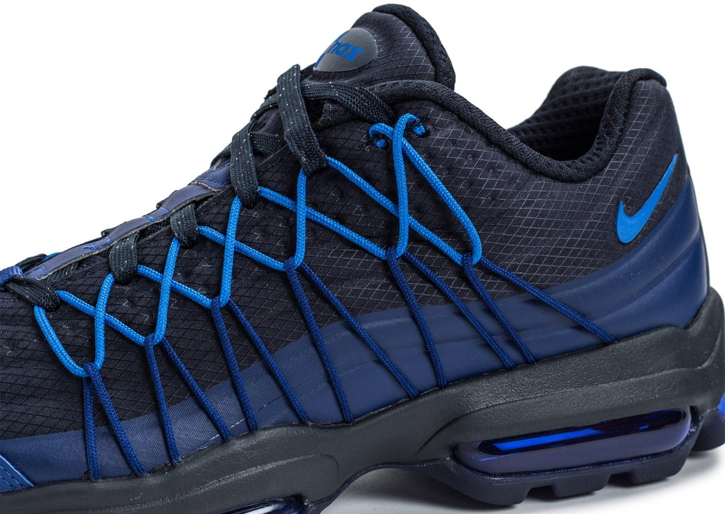 sneakers for cheap e48c7 3b7c6 ... chaussures nike air max 95 ultra se bleu marine vue details