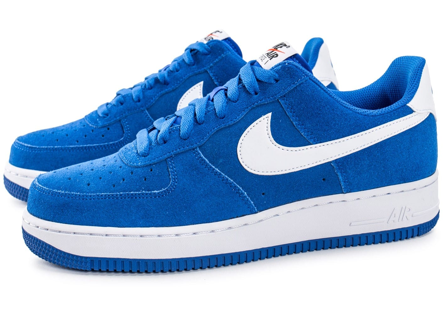 nike air force 1 suede bleu chaussures homme chausport. Black Bedroom Furniture Sets. Home Design Ideas