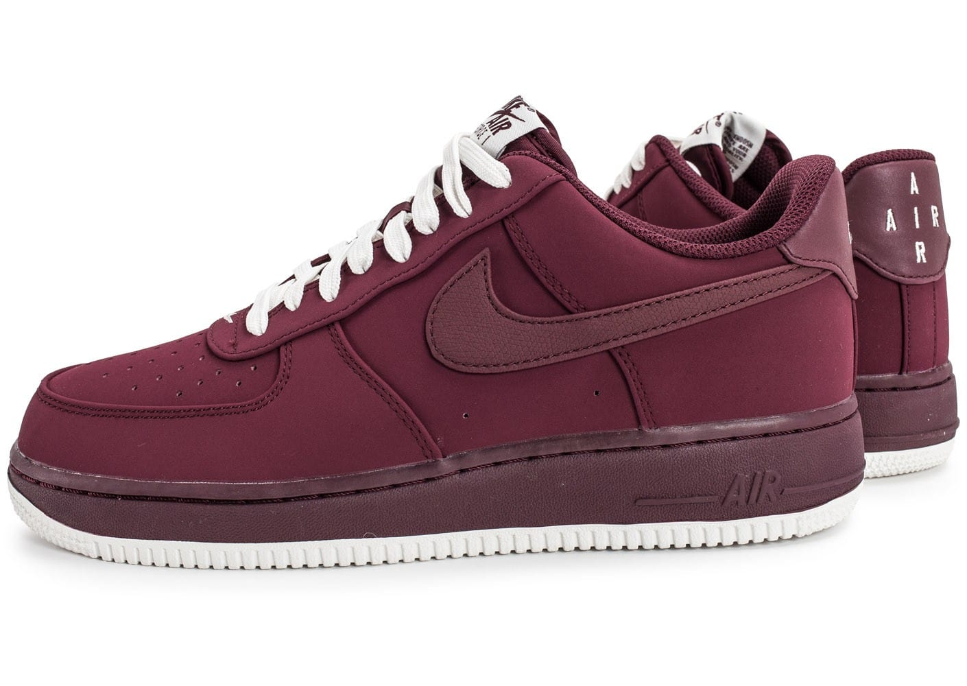 nike air force 1 low bordeaux chaussures homme chausport. Black Bedroom Furniture Sets. Home Design Ideas