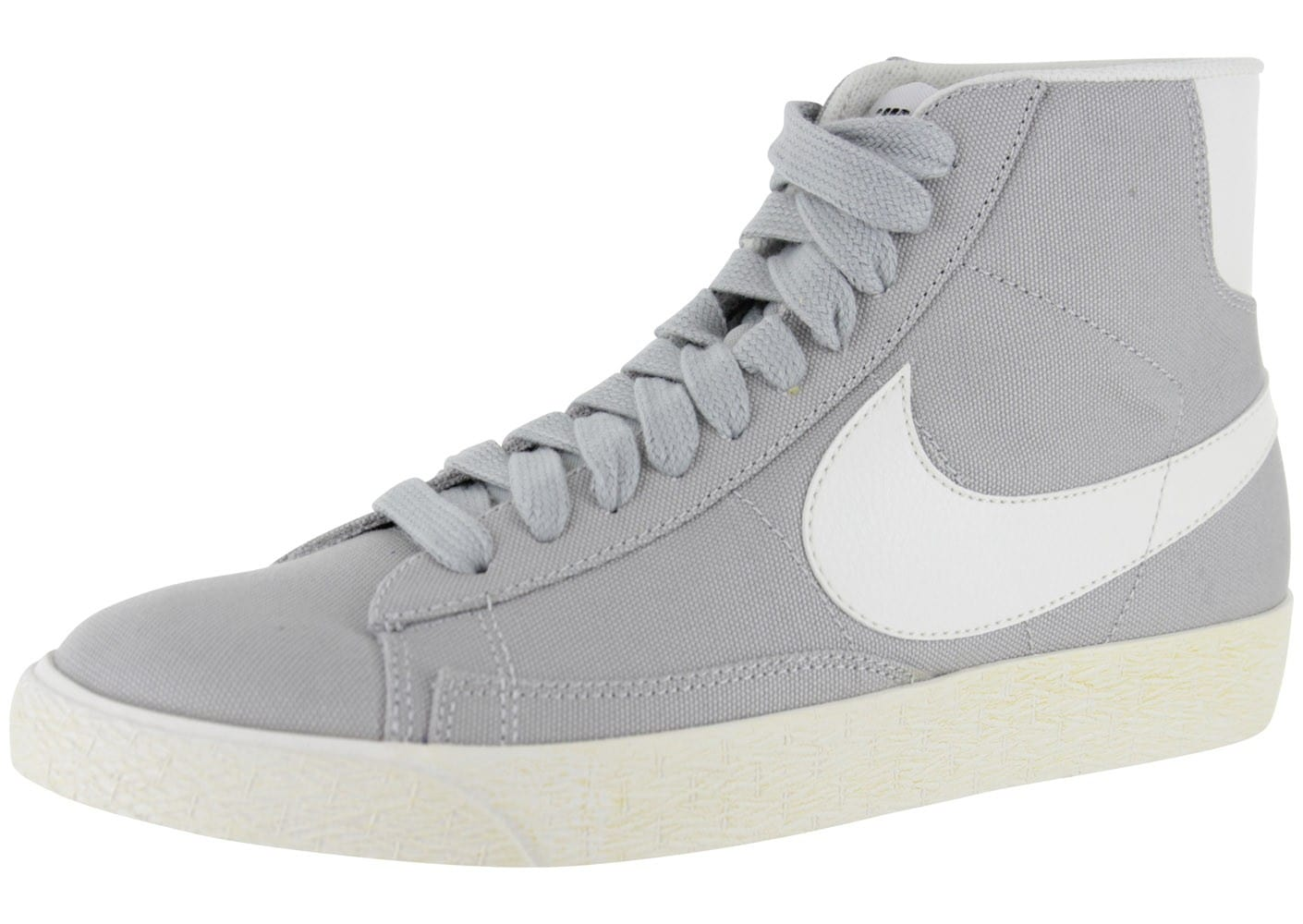 nike blazer mid toile grise chaussures homme chausport. Black Bedroom Furniture Sets. Home Design Ideas
