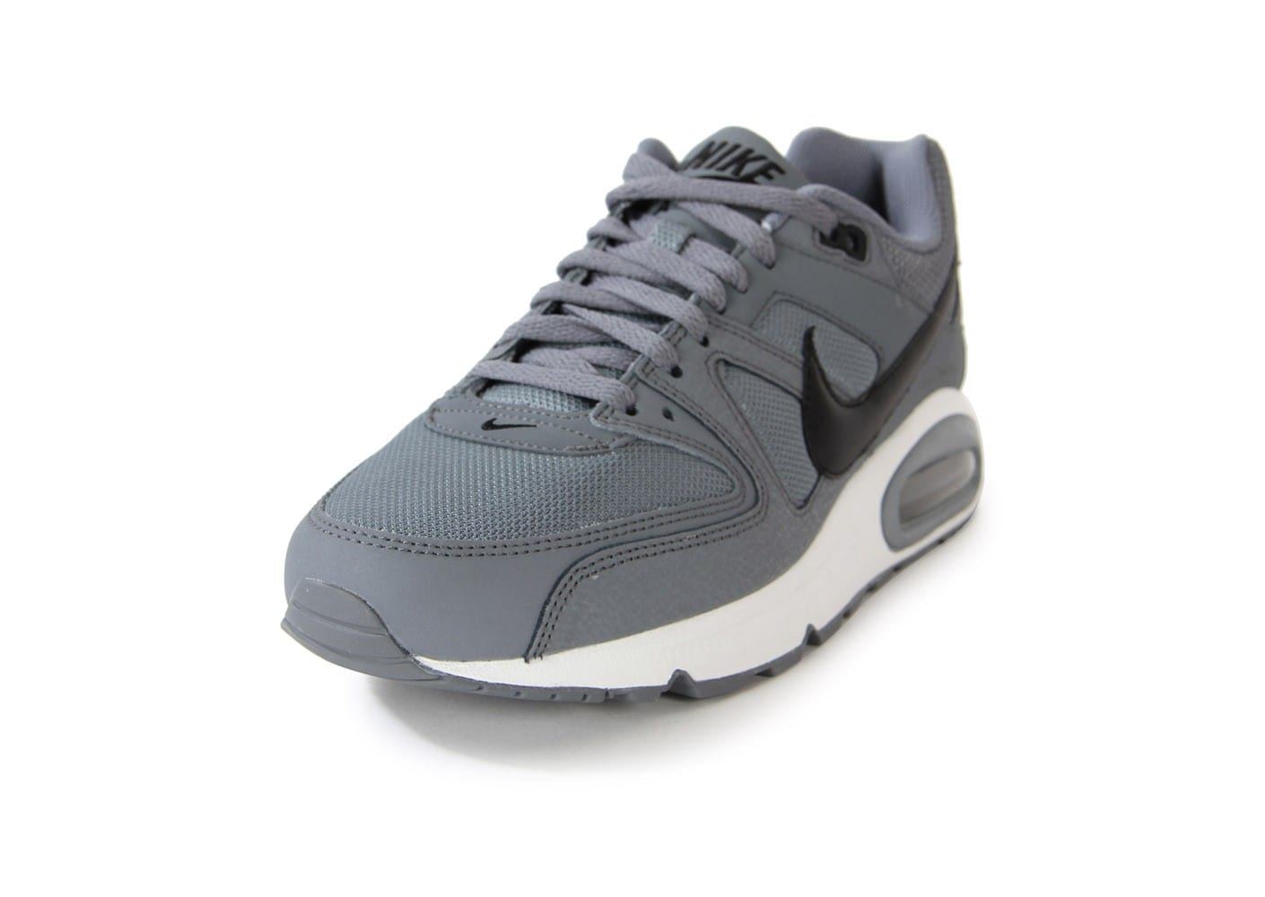 nike air max command cuir grise chaussures homme chausport. Black Bedroom Furniture Sets. Home Design Ideas