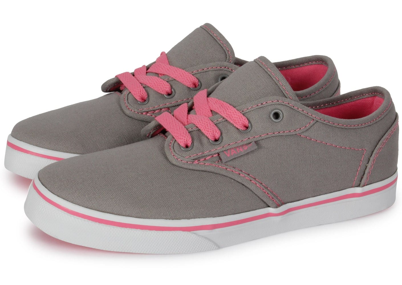 vans atwood enfant grise et rose chaussures chaussures chausport. Black Bedroom Furniture Sets. Home Design Ideas