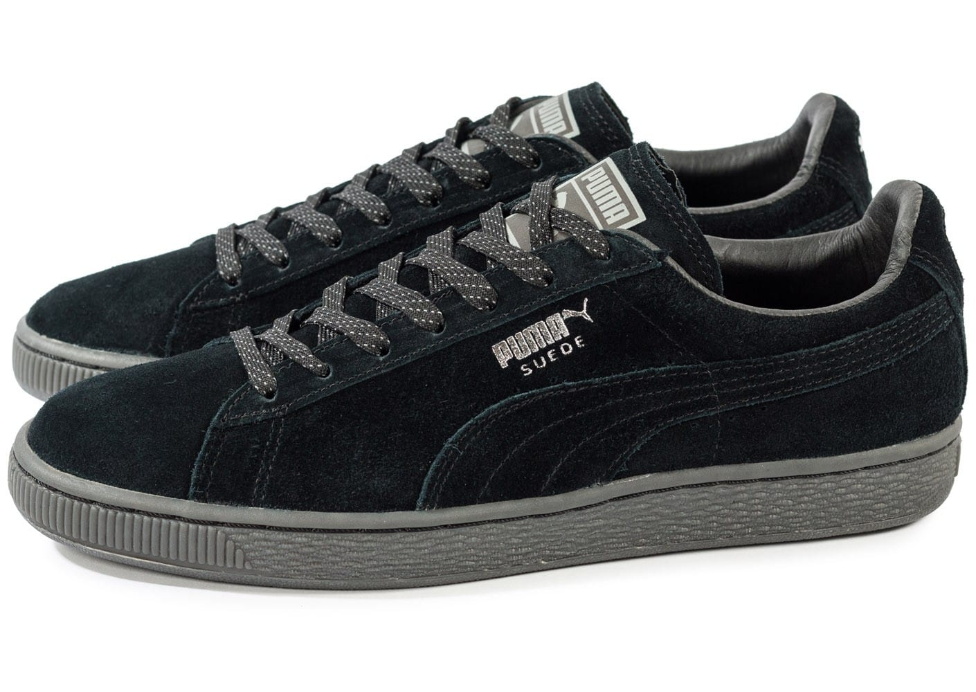 puma suede classic ref iced noir chaussures homme chausport. Black Bedroom Furniture Sets. Home Design Ideas