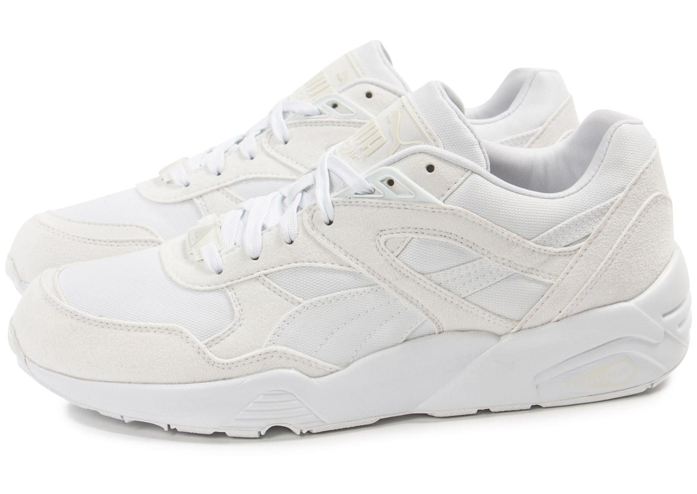 puma r698 trinomic blanche chaussures homme chausport. Black Bedroom Furniture Sets. Home Design Ideas
