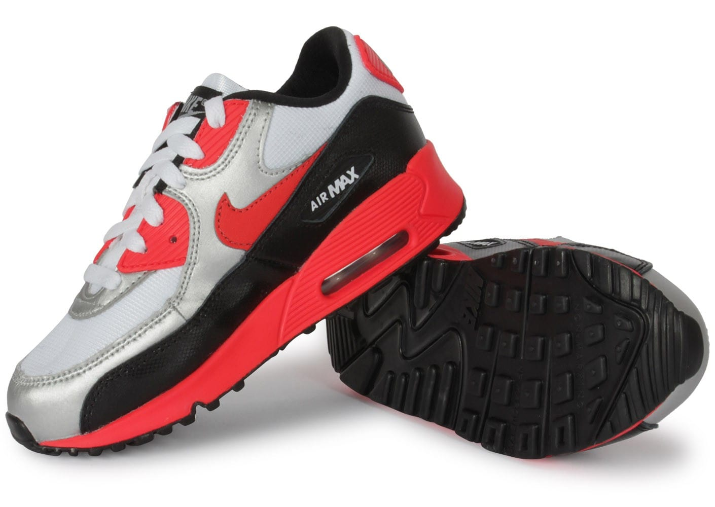 nike air max 90 enfant argent chaussures chaussures chausport. Black Bedroom Furniture Sets. Home Design Ideas