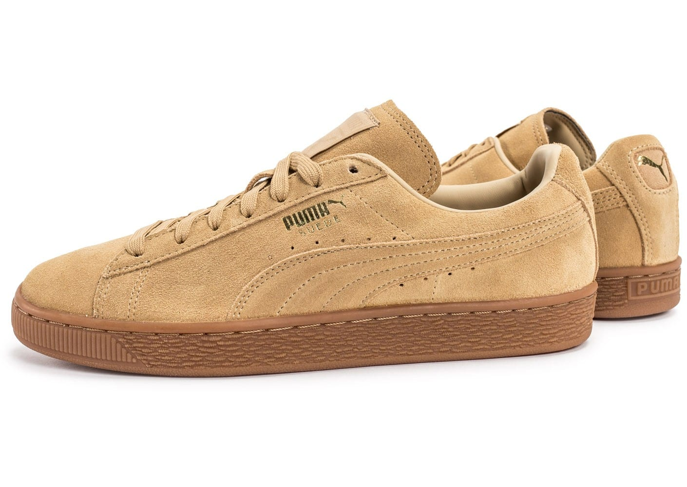 puma suede classic beige gum chaussures homme chausport. Black Bedroom Furniture Sets. Home Design Ideas