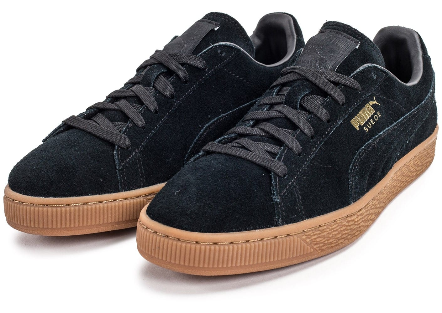 puma suede classic noire gum chaussures homme chausport. Black Bedroom Furniture Sets. Home Design Ideas