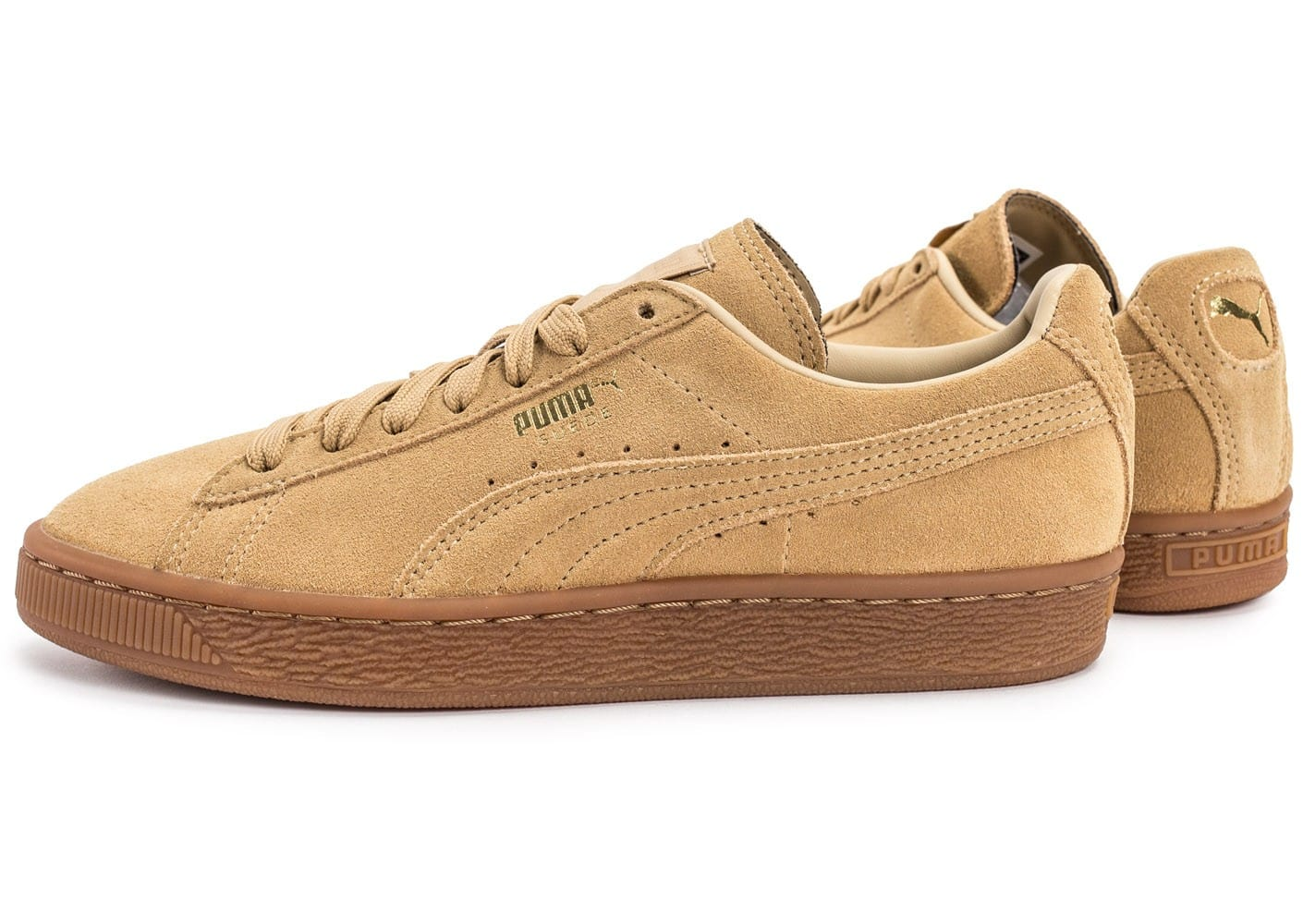puma suede classic w beige gum chaussures toutes les baskets sold es chausport. Black Bedroom Furniture Sets. Home Design Ideas