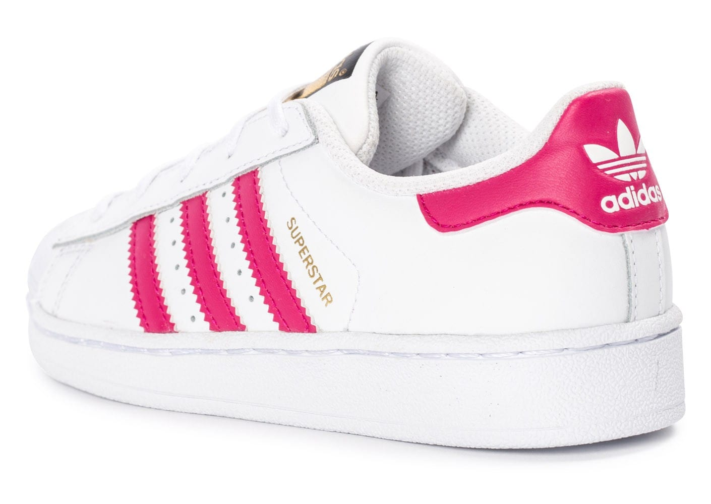 adidas superstar foundation enfant blanche et rose chaussures adidas chausport. Black Bedroom Furniture Sets. Home Design Ideas