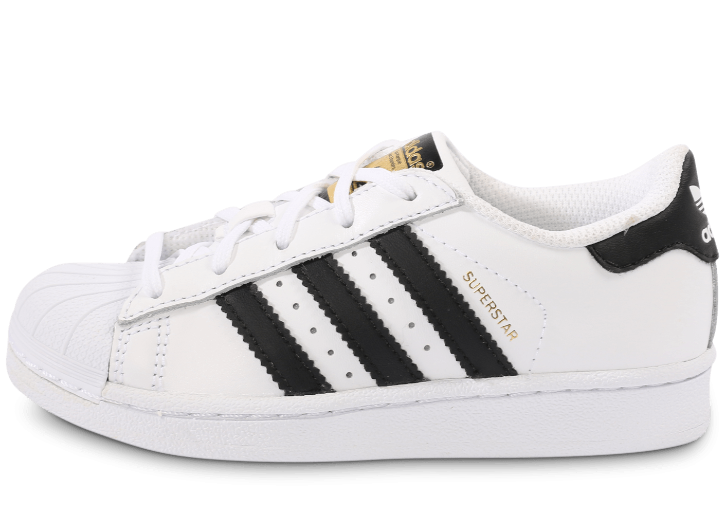 adidas superstar foundation noir et blanc enfant chaussures adidas chausport. Black Bedroom Furniture Sets. Home Design Ideas