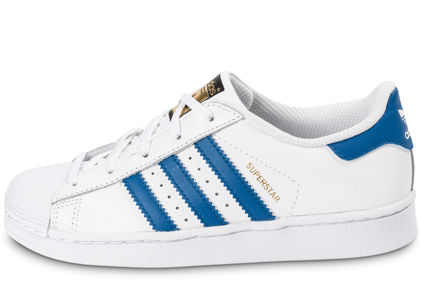 adidas superstar foundation enfant blanc bleu chaussures adidas chausport. Black Bedroom Furniture Sets. Home Design Ideas
