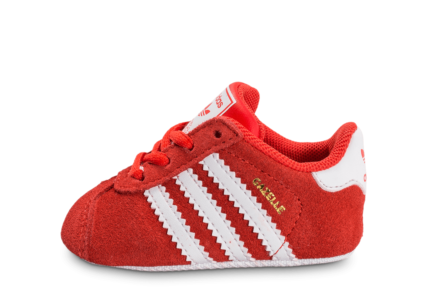 info for 86b30 8ea12 chaussures adidas gazelle crib bebe rouge vue exterieure