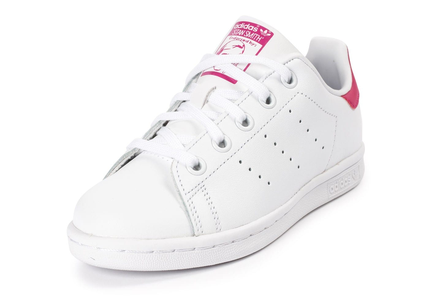 adidas stan smith enfant blanche et rose chaussures adidas chausport. Black Bedroom Furniture Sets. Home Design Ideas